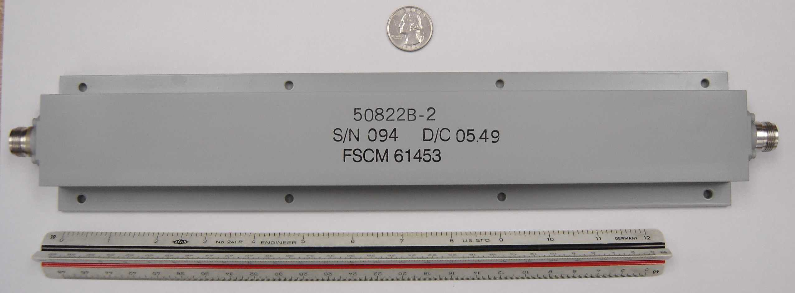 PN 50822B-2 Radar Band Rejection Filter