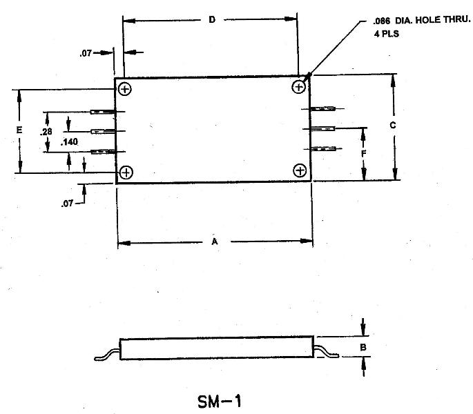 SM1 & 2 drawings w/ typical pin